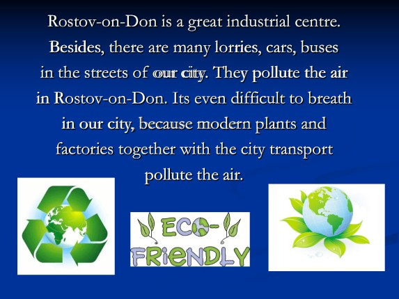 Eco-problems in Rostov-on-Don