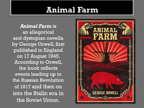symbolism of russian revolution in animal farm by george orwell