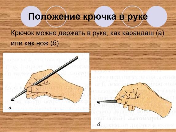 Вязание крючком положение 52